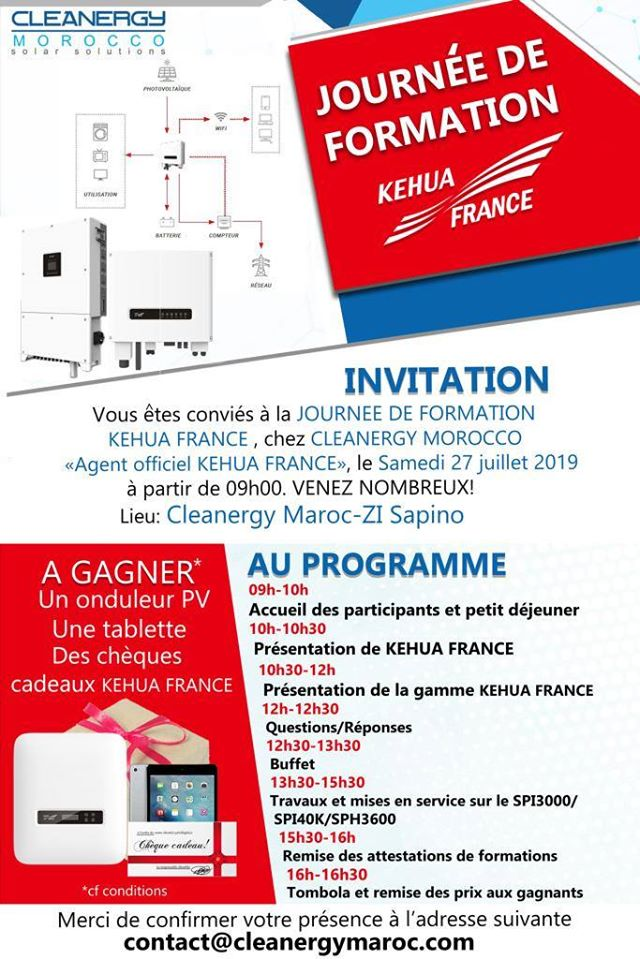 Journée de Formation Kehua France