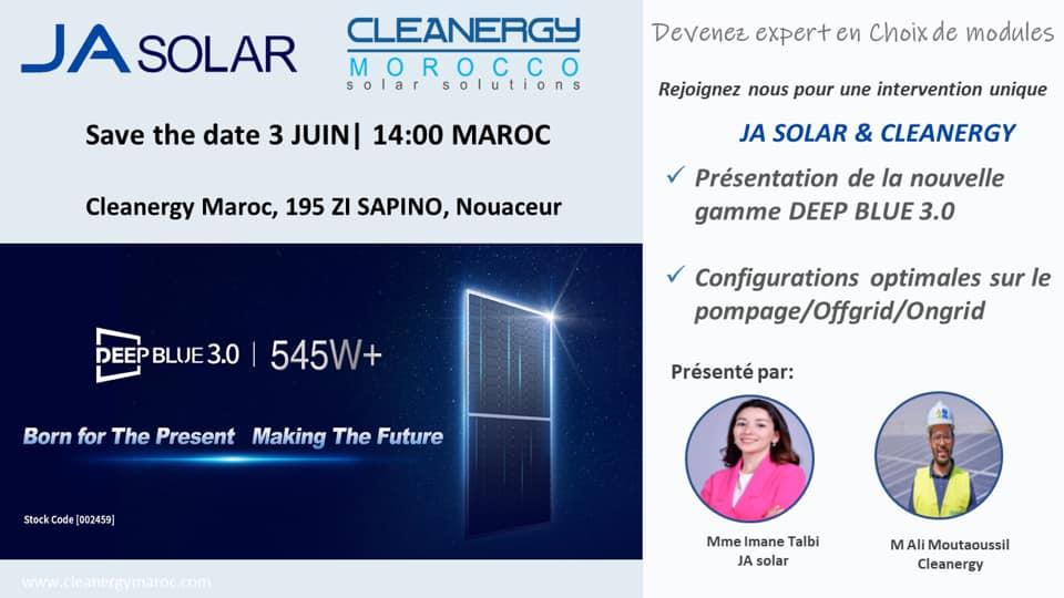 """Formation JA solar """"Devenez expert en choix de modules"""" 03/06/2021"""